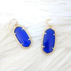 NWT Kendra Scott Elle Cobalt Gold Earrings
